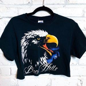 Vintage Black Hills Eagle Cropped USA T-shirt